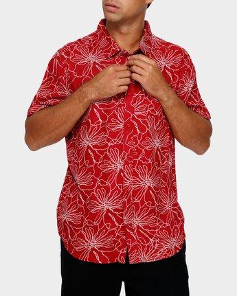 0 Blind Floral Shirt Brown R391181 RVCA