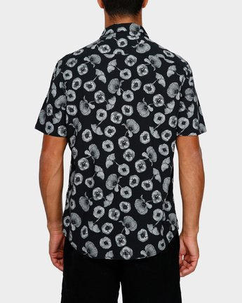 3 Peace Poppy Short Sleeve Shirt Black R391186 RVCA