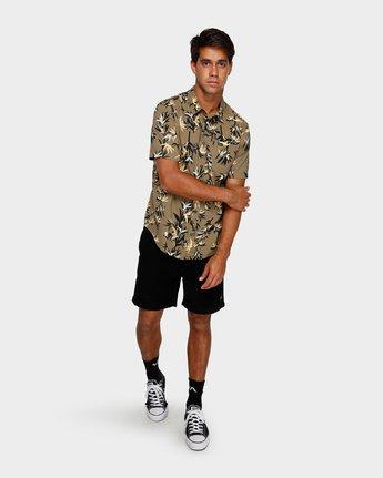 4 Bamboozled Short Sleeve Shirt Green R391190 RVCA