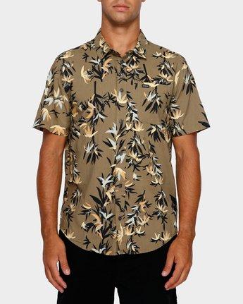 1 Bamboozled Short Sleeve Shirt Green R391190 RVCA