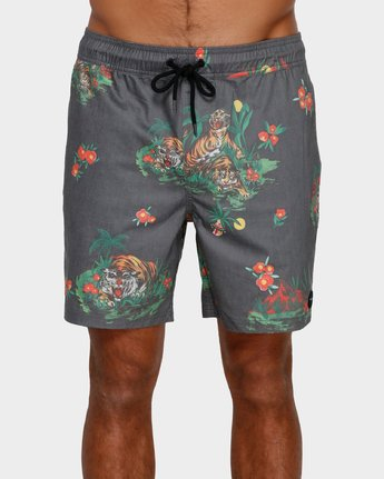 1 Tiger Elastic Short Black R391405 RVCA