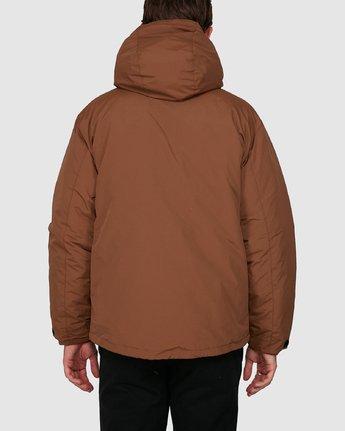 6 Rvca Puffa Jacket Brown R391433 RVCA