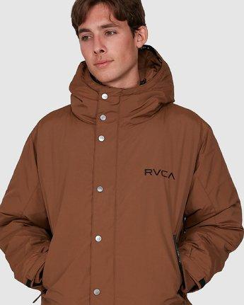 3 Rvca Puffa Jacket Brown R391433 RVCA