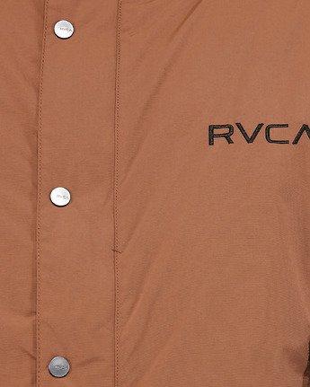4 Rvca Puffa Jacket Brown R391433 RVCA