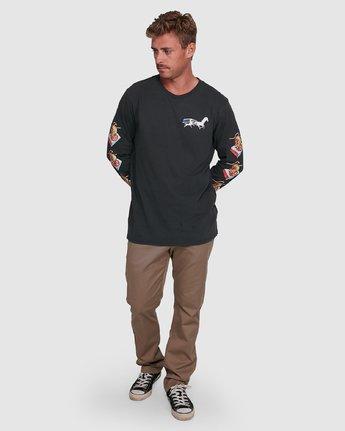 6 GALLOP LS Black R392092 RVCA
