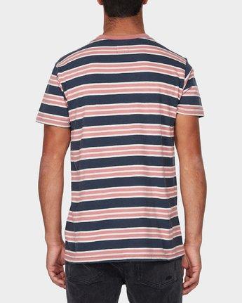 2 Lucas Stripe T-Shirt Blue R393041 RVCA
