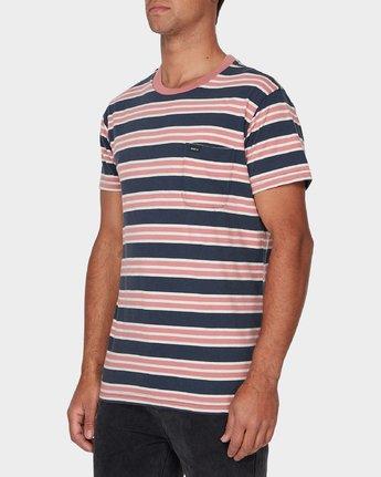 1 Lucas Stripe T-Shirt Blue R393041 RVCA