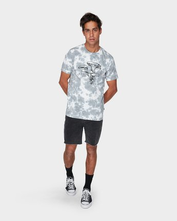 3 Vaughn Short Sleeve T-Shirt  R393047 RVCA