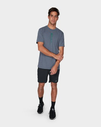 3 RVCA Verted Short Sleeve T-Shirt Grey R393052 RVCA