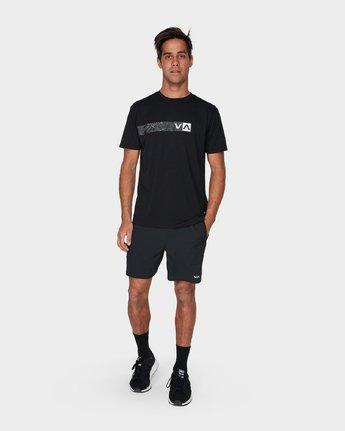 3 Defer Bar Short Sleeve T-Shirt Black R393056 RVCA