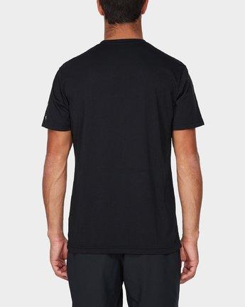 2 Big Defer Short Sleeve T-Shirt Black R393057 RVCA