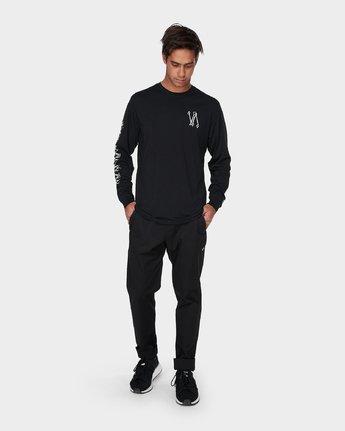 3 Defer Sphere Long Sleeve T-Shirt Black R393091 RVCA