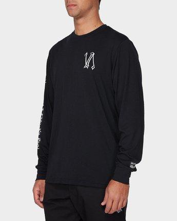1 Defer Sphere Long Sleeve T-Shirt Black R393091 RVCA