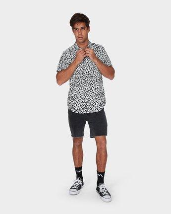 3 Gerrard Short Sleeve Shirt White R393181 RVCA