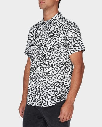 1 Gerrard Short Sleeve Shirt White R393181 RVCA