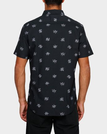 3 Thatll Do Print Short Sleeve Shirt Black R393188 RVCA