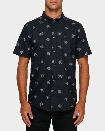 1 Thatll Do Print Short Sleeve Shirt Black R393188 RVCA