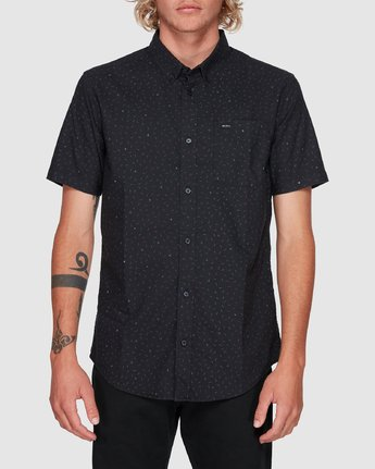 0 Thatll Do Print Short Sleeve Top Black R393188 RVCA