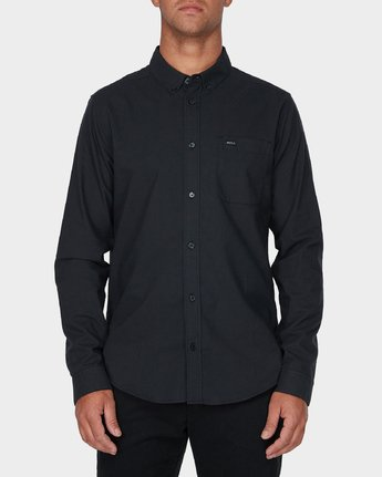 0 Thatll Do Stretch Long Sleeve Shirt Black R393198 RVCA