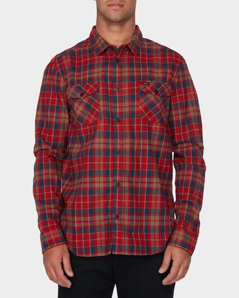0 Watt Flannel Long Sleeve Shirt  R393200 RVCA