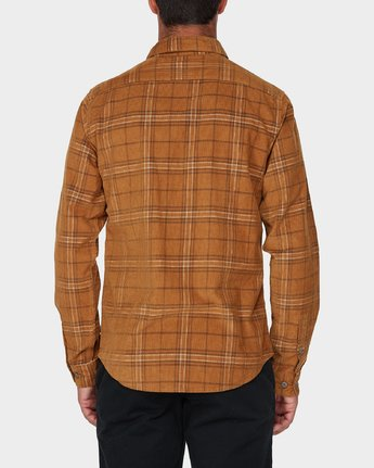 2 Phases Plaid Cord Long Sleeve Shirt Brown R393201 RVCA
