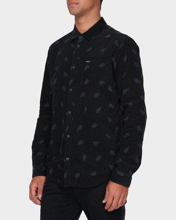 1 Paradis Cord Long Sleeve Shirt Black R393203 RVCA