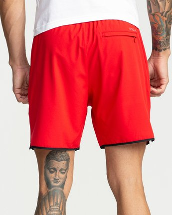 1 Yogger Stretch Shorts Red R393313 RVCA