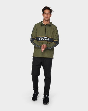 3 Adapter Anorak Jacket Green R393439 RVCA