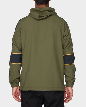 2 Adapter Anorak Jacket Green R393439 RVCA