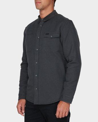 1 Victory Long Sleeve Shirt Black R393441 RVCA
