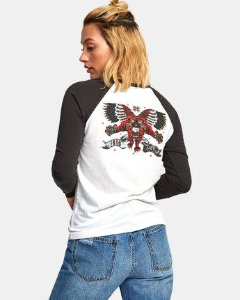 1 Ben Venom Tiger - Raglan T-Shirt for Women White R3LSRARVW9 RVCA