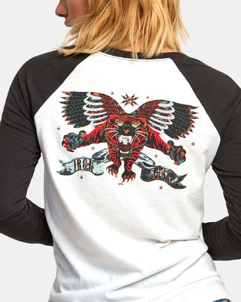 3 Ben Venom Tiger - Raglan T-Shirt for Women White R3LSRARVW9 RVCA