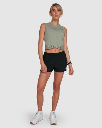 6 Womens Yogger Stretch Short Black R405313 RVCA