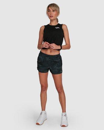 6 Womens Yogger Stretch Short Camo R405313 RVCA
