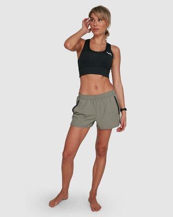 6 Womens Yogger Stretch Short Green R405313 RVCA
