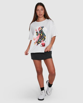 6 THE GORGEOUS HUSSY SHORT SLEEVE TEE White R405682 RVCA
