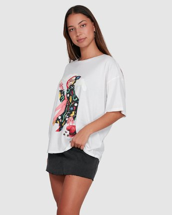 2 THE GORGEOUS HUSSY SHORT SLEEVE TEE White R405682 RVCA