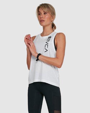 5 Va Muscle Top White R405703 RVCA