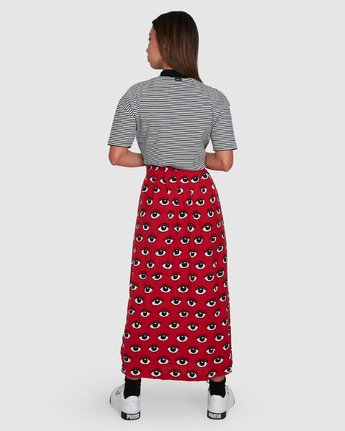 3 REALE MIDI SKIRT Red R405833 RVCA