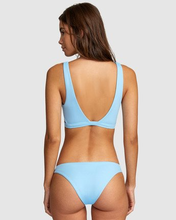 3 Solid Bralette Bikini Top Blue R406858 RVCA