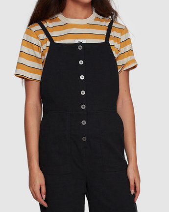 3 Shoutout Jumpsuit Black R407752 RVCA