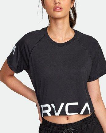 4 VA Short Sleeve Tee Black R407874 RVCA