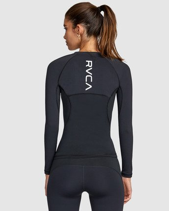 3 COMPRESSION LONG SLEEVE TEE Black R407882 RVCA