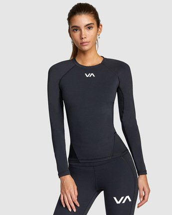 0 COMPRESSION LONG SLEEVE TEE Black R407882 RVCA
