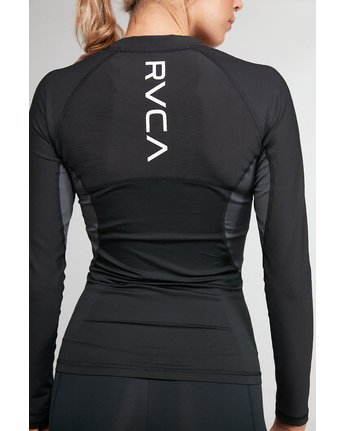 7 COMPRESSION LONG SLEEVE TEE Black R407882 RVCA