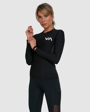 5 COMPRESSION LONG SLEEVE TEE Black R407882 RVCA