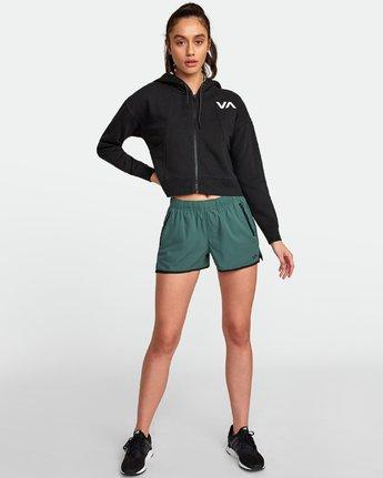 4 Sport Cropped Full Zip Hoodie Black R407885 RVCA