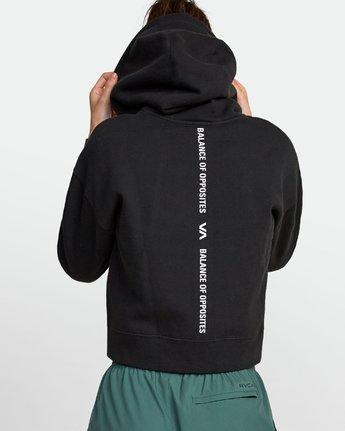 2 Sport Cropped Full Zip Hoodie Black R407885 RVCA