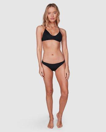 12 Solid Crossback Bikini Top Black R408650 RVCA