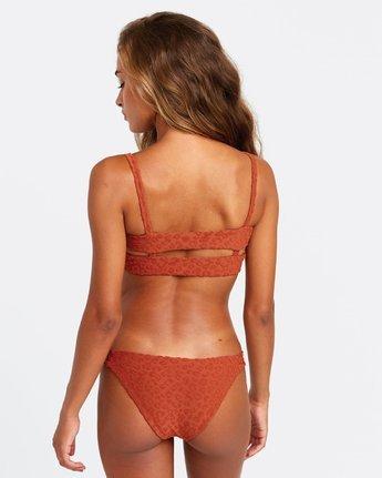 2 Wild Bikini Top Brown R408657 RVCA